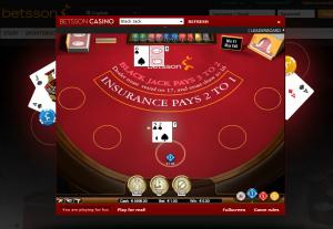 Blackjack hos Betsson Casino