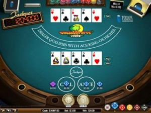 Caribbean Stud poker er et casinospill som ligner på fem-korts poker.