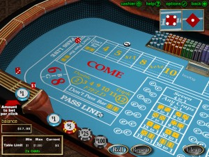 Crapsbord online hos casinoet Betsafe casino red.
