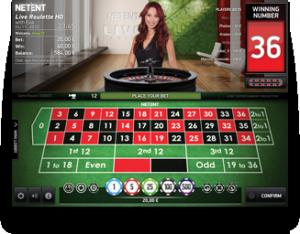 Live casino hos Betsafe. Her med Nadia ved roulettebordet.