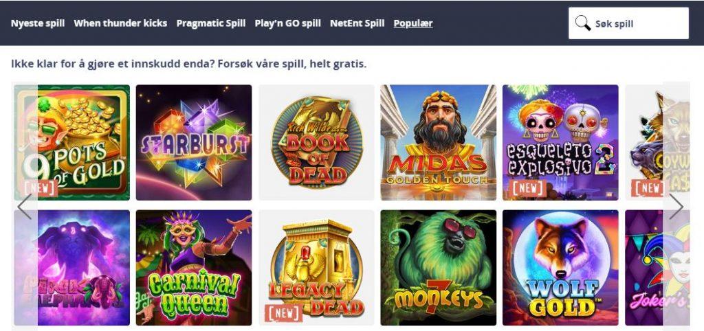 Chanz Casino Spilleautomater