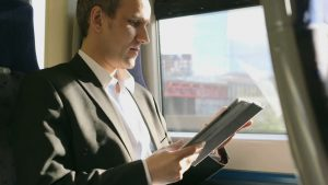 iPad on the Train Man